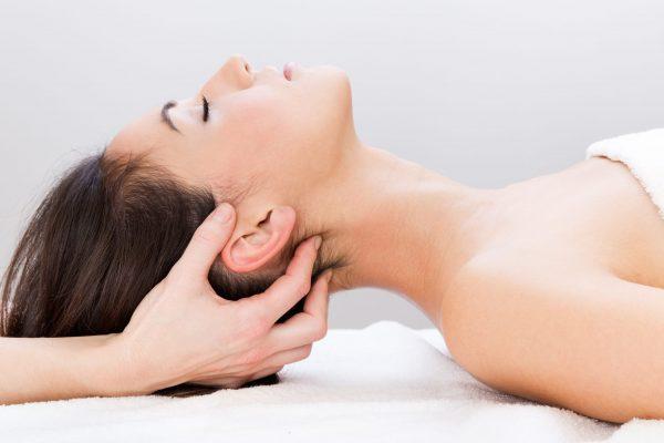 Pretty Woman enjoying  massage at beauty spa
